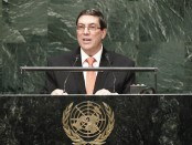 Cuban Foreign Minister Bruno Rodriguez Parilla at the UN General Assembly October 28th. 2014