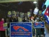 Picket against U.S. blockade on Cuba in Vancouver